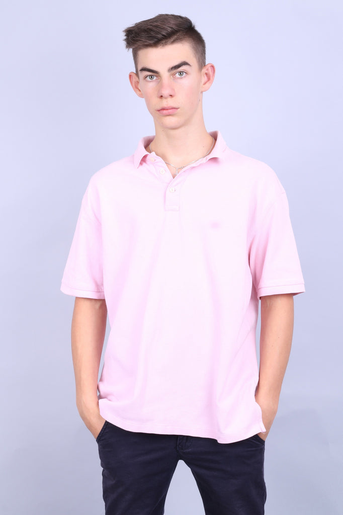 Racing Green Mens XL Polo Shirt Short Sleeve Pink Standard Fit - RetrospectClothes