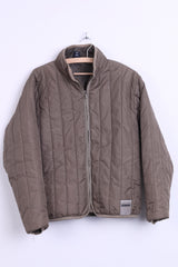 Diesel Womens M Nylon Jacket Khaki Quilted Top - RetrospectClothes