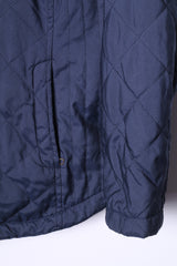 Daily WOMEN Womens L Jacket Navy Quilted Full Zipper Lightweight Top