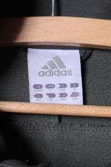 Adidas Mens 44/46 L Sweatshirt Full Zipper Grey Sportswear Top