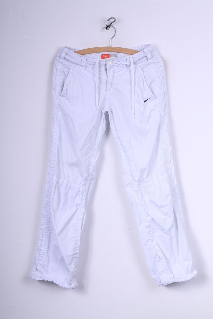 Nike Womens S 10 Lightweight Trousers Cotton White The Athletic Dept.