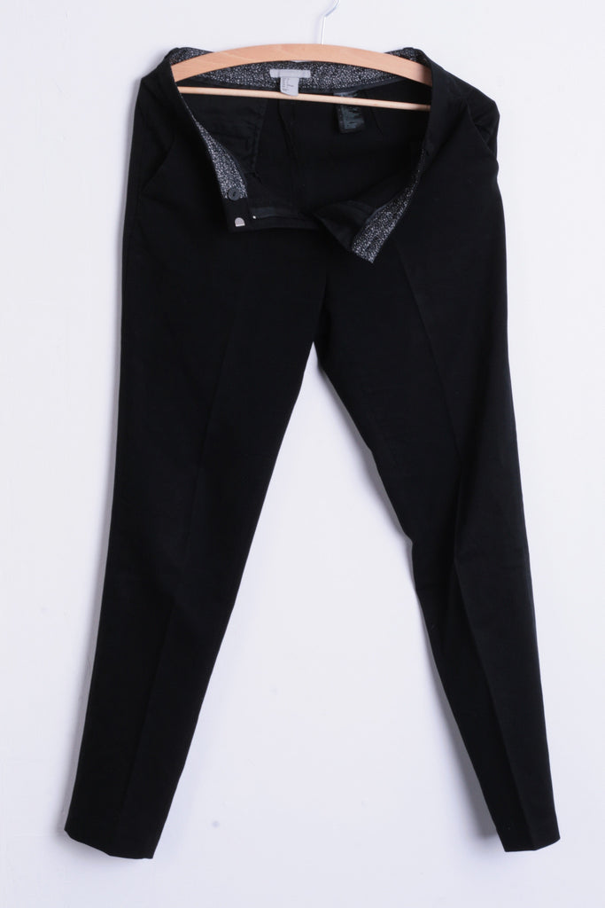 H&M Womens S/M Elegant Trousers Classic Women's Suit Black - RetrospectClothes
