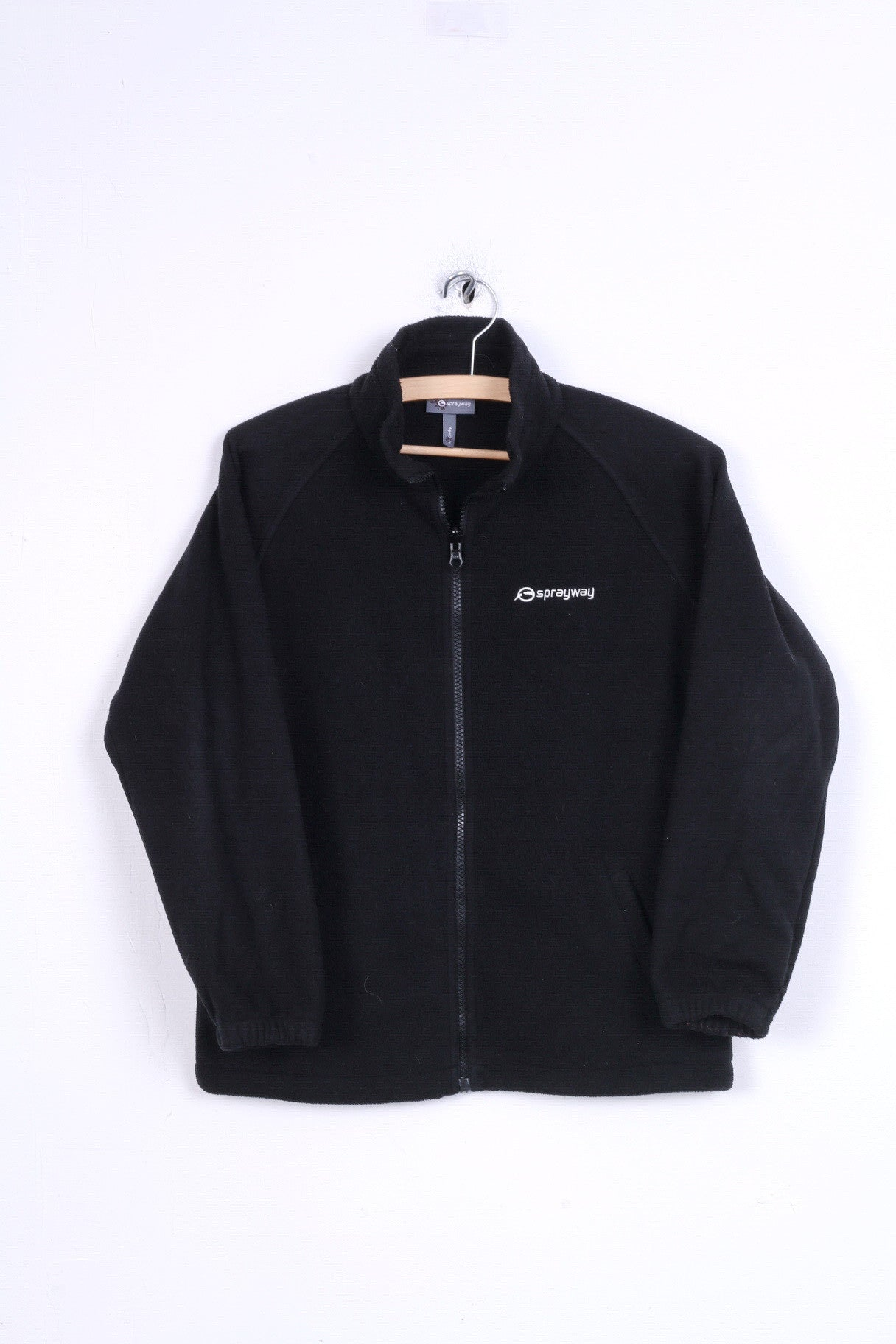 outlet store best quality on feet shots of Sprayway Girls 10-11 age Fleece Black Top Zip Up jacket ...