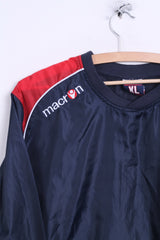 Macron Mens XL Sweatshirt Jacket Sport Navy V Neck - RetrospectClothes