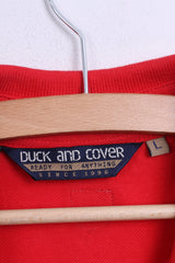 Duck and Cover Mens L Polo Shirt Red Cotton Sport - RetrospectClothes