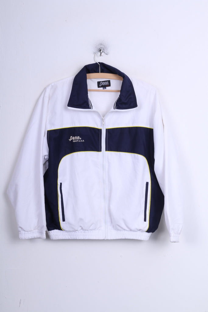 Penn Boys 164 XL Track Top Jacket Sport White U.S.A