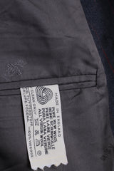Austin Reed Mens 42 L Blazer Jacket Wool Grey Striped England - RetrospectClothes