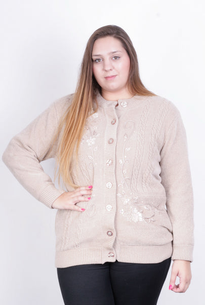Paramour Womens XL Jumper Beige Sweater Vintage - RetrospectClothes