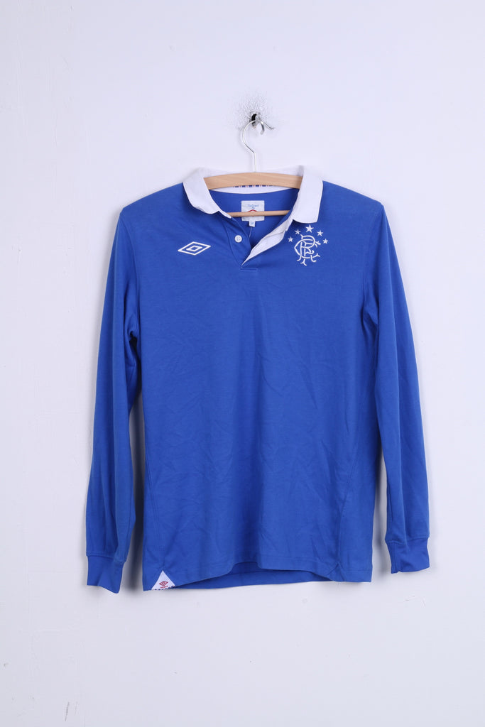 Umbro Boys 158 Long Sleeved Polo Shirt Blue Glasgow Rangers Football C –  RetrospectClothes 230f3c1a6