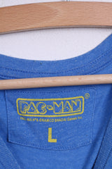 Cedar Wood State Pac-Man  Mens L Shirt Blue Crew Neck Cotton