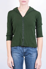 Grace Dane Lewis Womens S Jumper Sweater V Neck Green Vintage - RetrospectClothes