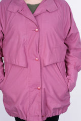 Joulie Collection Womens L Jacket Coat Raspberry Vintage 90s - RetrospectClothes