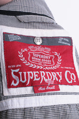 Superdry Womens S Casual Shirt Check White Black Cotton - RetrospectClothes