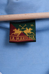 La Martina Men XL Polo Shirt Short Sleeve Blue Buenos Aires Cotton Argentina - RetrospectClothes