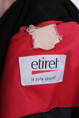 Etirel Le Style Sportif Mens M/L Winter Jacket Parka Padded Retractable Hood Red - RetrospectClothes