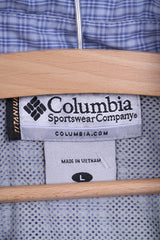 COLUMBIA Womens L Casual Shirt Long Sleeve Blue Check