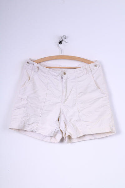 Columbia Sportswear Company Womens S Casual Shorts Cream Nylon