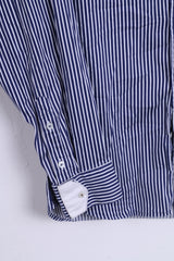 Van Santen & Van Santen Mens S Casual Shirt Button Down Collar Navy Regular Fit