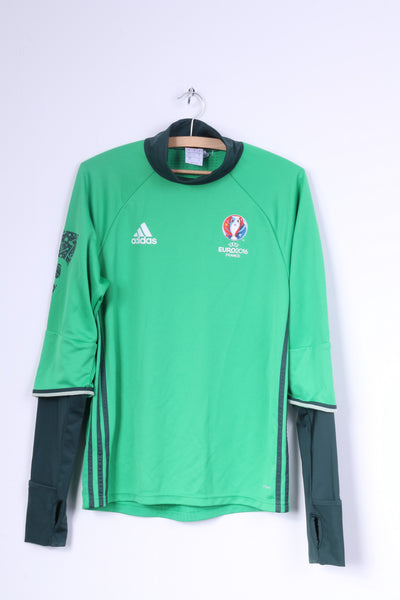 Adidas Mens S Shirt Football Club Green Long Sleeve Euro 2016 France
