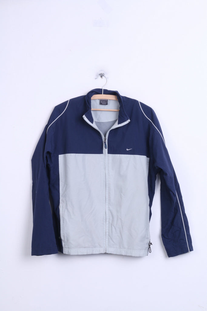 Nike Womens XL Jacket Navy Grey Tracksuit Top Sport Welt - RetrospectClothes