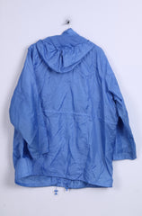Being Casual Womens 26 XXL Jacket Blue Light Top Hood Full Zipper Two Pockets