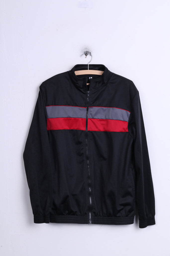 Vintage Mens Up Jacket M Black Polyester