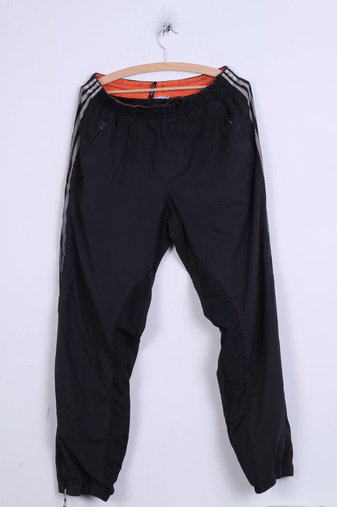 Adidas Mens L Sweatpants Black Trousers training Sport Two Pockets