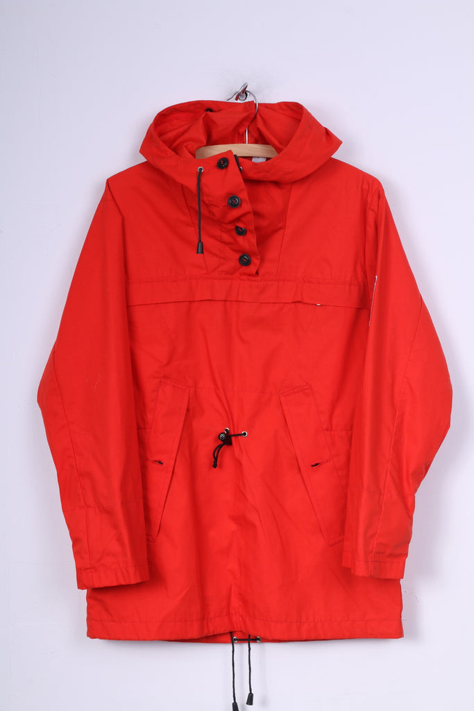 Udis Blystad Womens 40 L  Jacket Hooded Red  Sportswear Anorak Novelene Kangaroo Pocket