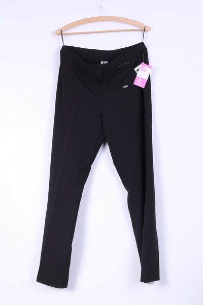 New Trutex Womens 30L Trousers Elegant Pants Black Bootcut