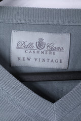 Della Ciana New Vintage Mens 56 XL Jumper Grey Cotton Made in Italy Sweater