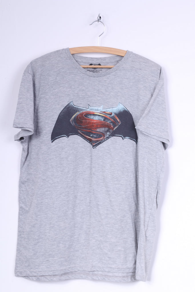 Cedar Wood State Mens XL T-Shirt Graphic Grey Cotton Batman V Superman