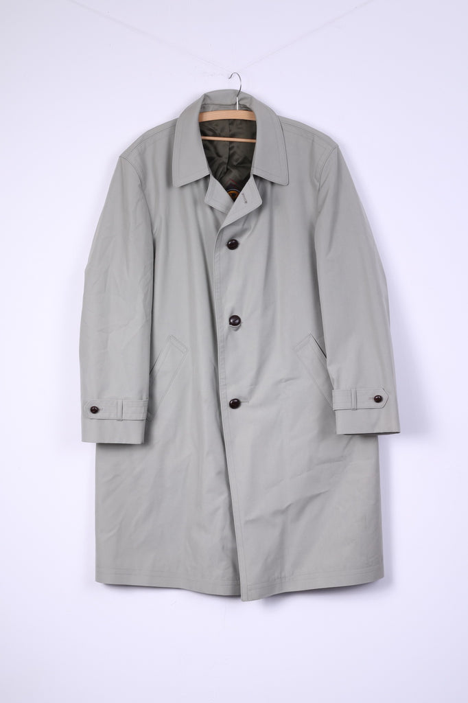 Air Liner Modell Harders Mens 54 L Coat Cotton Light Mint Single Breasted Vintage