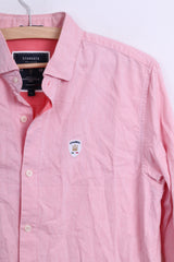 Stangata via Domenico Millelire Mens Casual Shirt S Long Sleeve Pink Cotton Italia