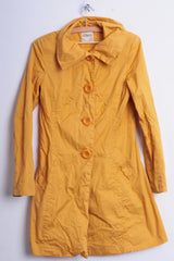 Bershka Outwear Womens M Light Coat Jacket Oversize Buttons Yellow - RetrospectClothes