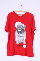 Comic Relief Albert by Rankin Mens XXL Graphic Shirt Red Cotton Dog