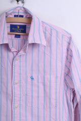Abercrombie & Fitch Mens L Casual Shirt Striped Muscle Cotton