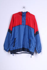 Marcel Clair Mens L Jacket Pullover Nylon Red Blue Zip Neck CUP '66