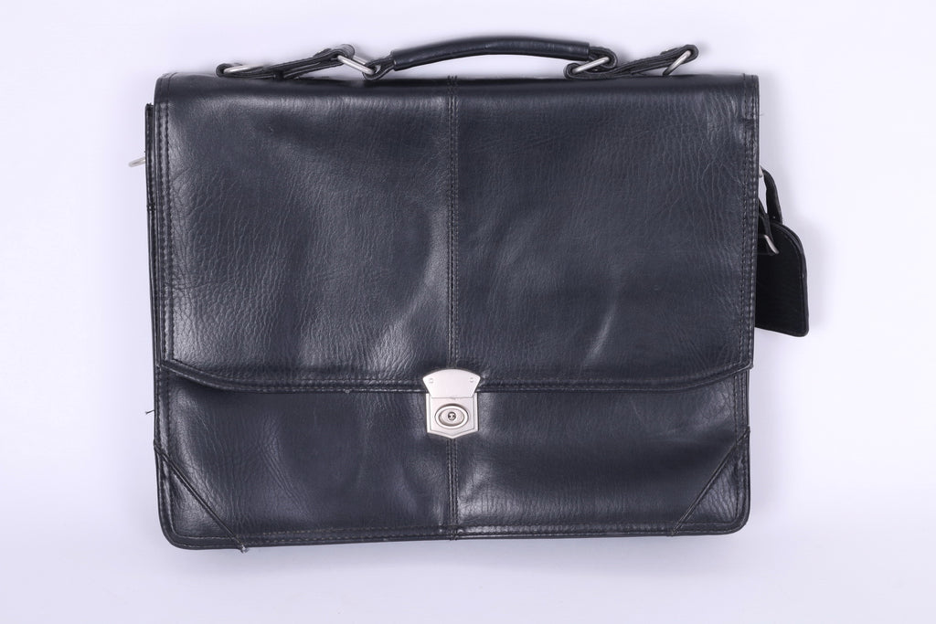 Falcon Synthetic Leather Briefcase 2 Gusset  Bussines 2584 Flapover Bag