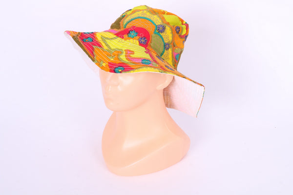 Womens Girls Wide Brim Cotton Summer Sun Hat Multi Color Beach