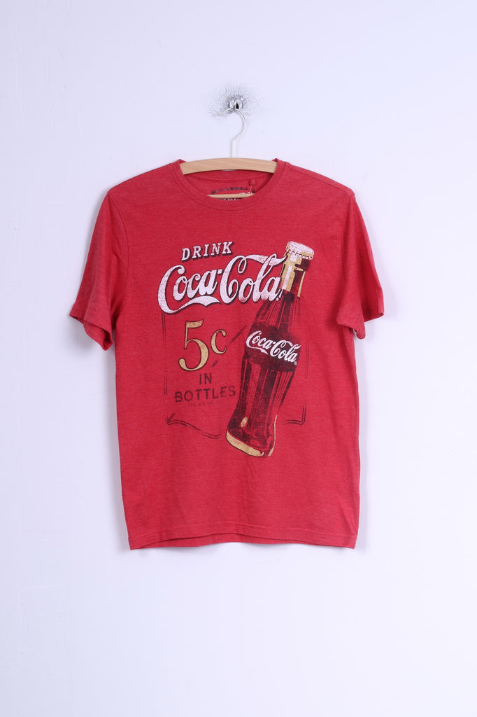 f54927b509ae3 George Womens XS T-Shirt Coca Cola Graphic Cotton Crew Neck Red –  RetrospectClothes