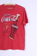 George Womens XS T-Shirt Coca Cola Graphic Cotton Crew Neck Red