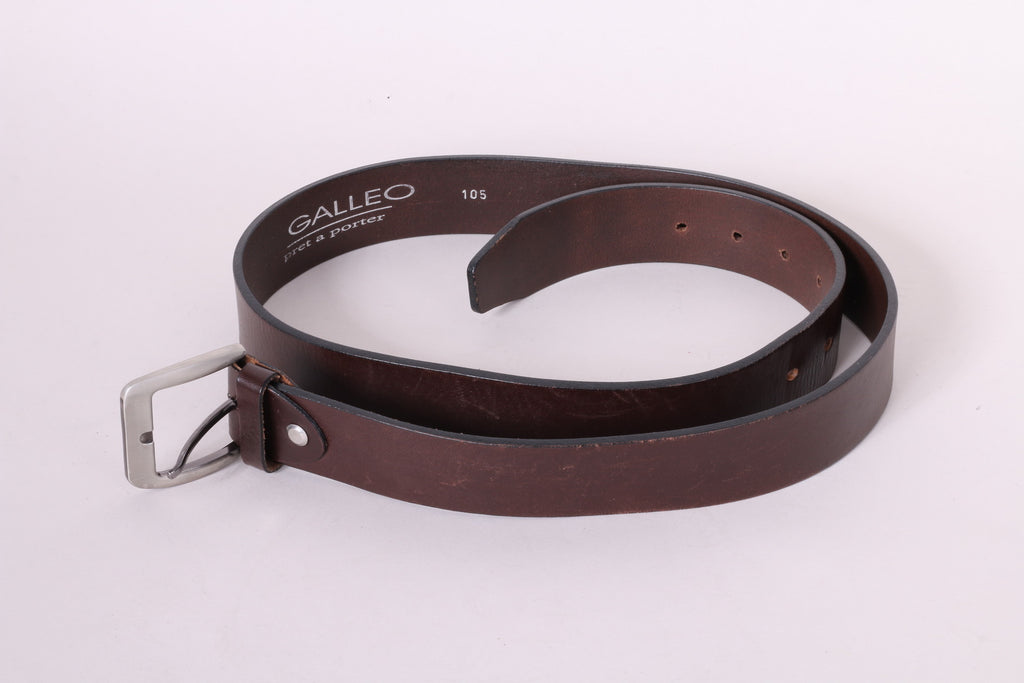 Galleo pret a porter Mens 105 Belt Brown Leather Classic