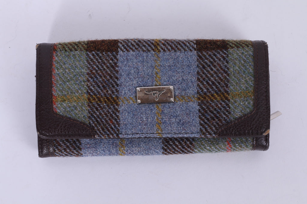 Harris Tweed Women's Brown Check Long Wallet Purse by Glen Appin Scotland