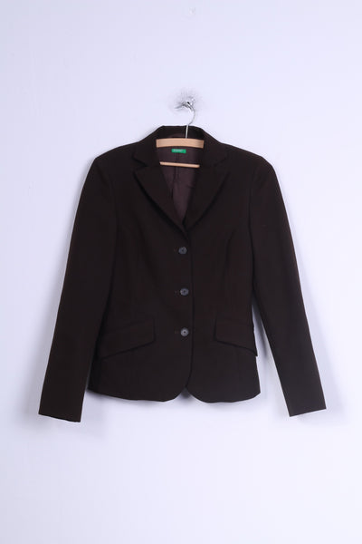 United Colors Of Benetton Womens 40 XS Jacket Brown Single Breasted Blazer