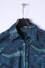 Coast Weber & Ahaus Womens 44 S Casual Shirt Navy Cotton Thin Material Paisley