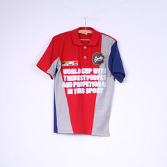 Matt Davis Mens S Polo Shirt Red Cotton World Racing Team Lucky Top