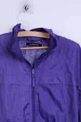 Dunnes Stores Womens S Jacket Purple Windbreaker Hood Light Top