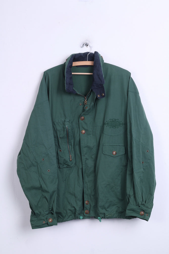 Vintage Mens XL Jacket Hood Green Parka - RetrospectClothes