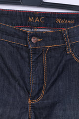 MAC Jeans Womens W42 L32 Trousers Jeans Cotton Navy Denim Melanie