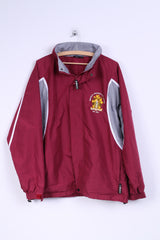 Brikbeck University of London Mens M Jacket Hidden Maroon Sport Football